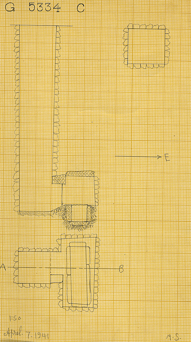 Maps and plans: G 5334, Shaft C (S 806c)