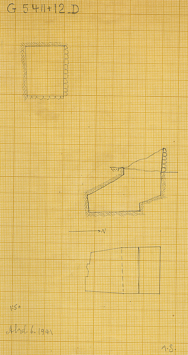 Maps and plans: G 5412, Shaft D