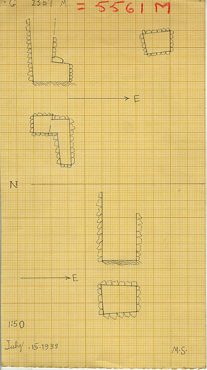 Maps and plans: G 2357 M and N = G 5561, Shaft M and N