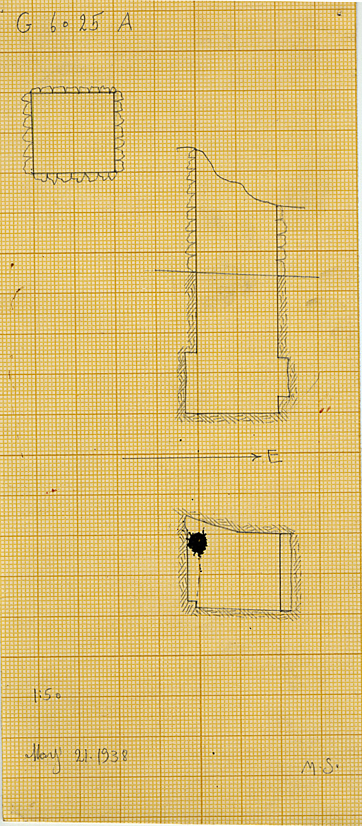Maps and plans: G 6025, Shaft A