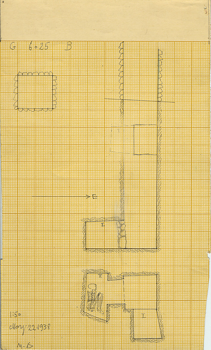 Maps and plans: G 6025, Shaft B