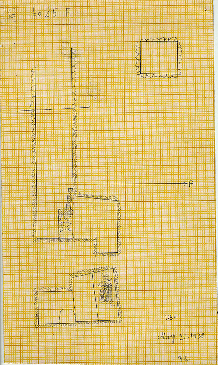 Maps and plans: G 6025, Shaft E