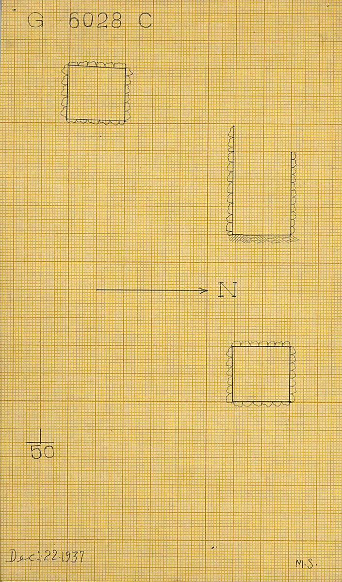 Maps and plans: G 6028, Shaft C