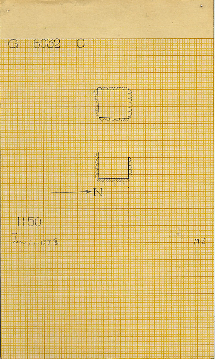 Maps and plans: G 6032, Shaft C