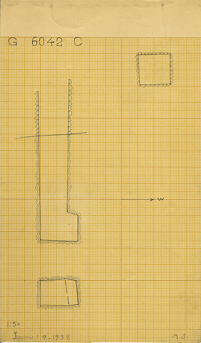 Maps and plans: G 6042, Shaft C