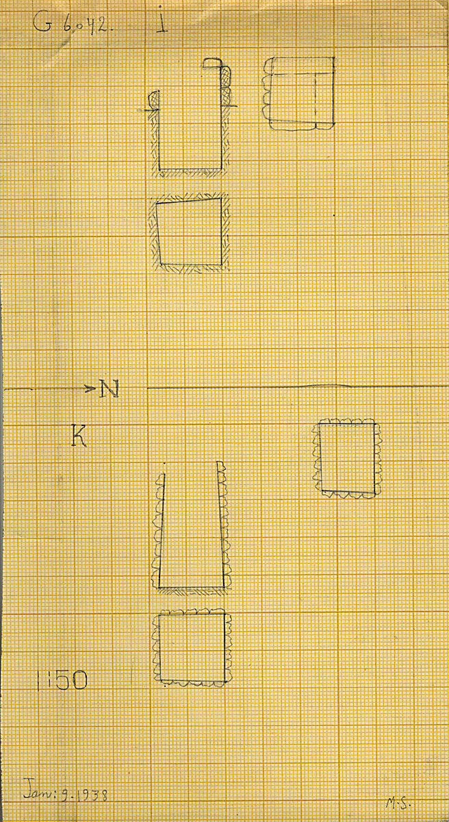 Maps and plans: G 6042, Shaft I and K