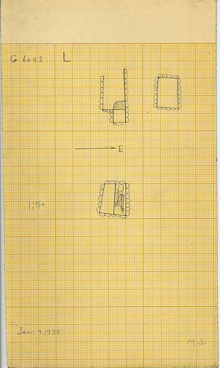 Maps and plans: G 6042, Shaft L