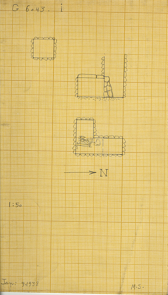 Maps and plans: G 6043, Shaft I