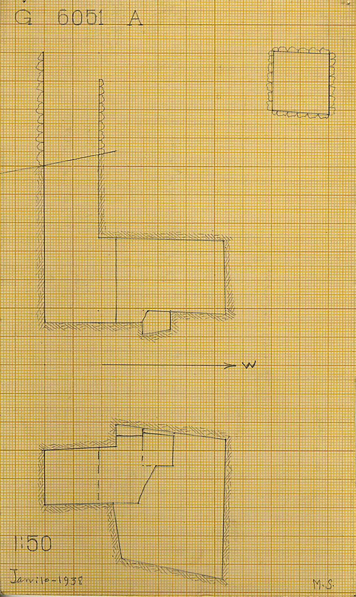 Maps and plans: G 6051, Shaft A