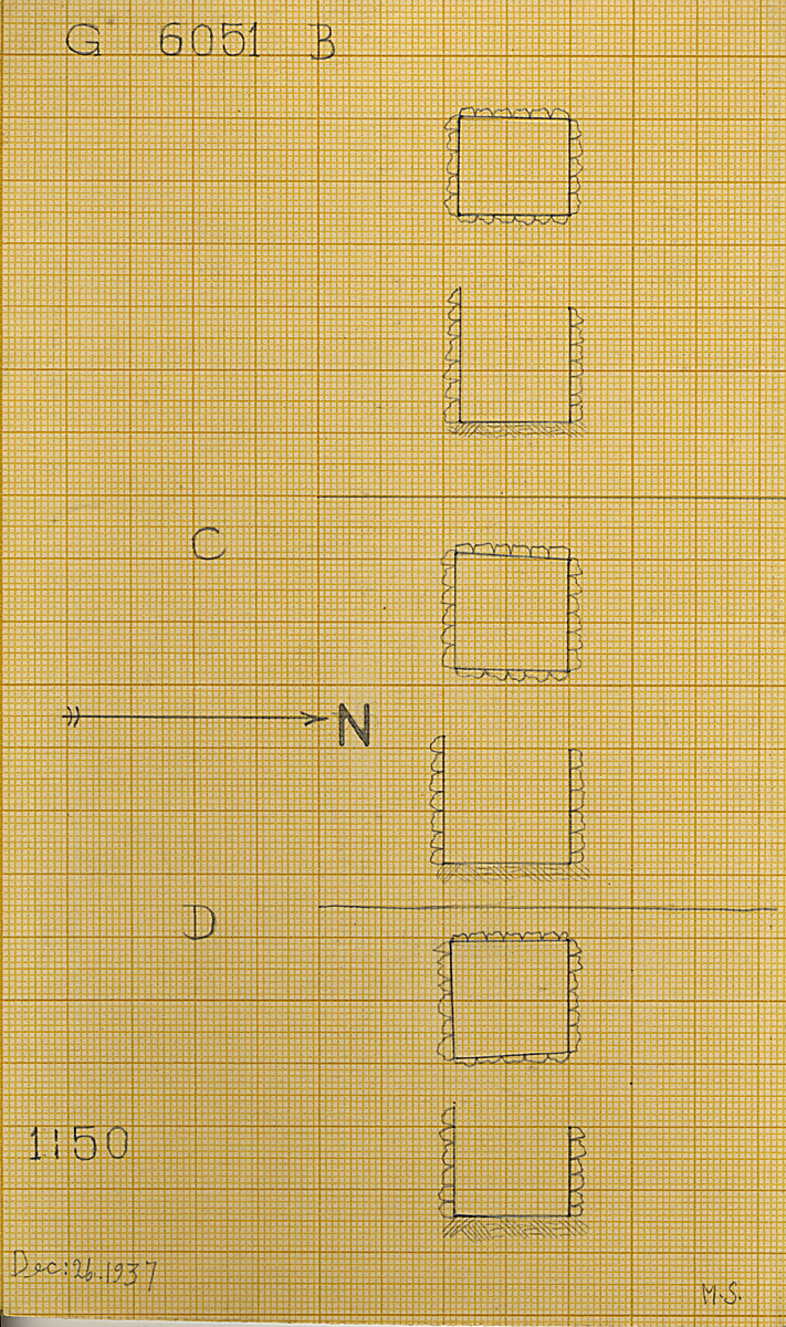 Maps and plans: G 6051, Shaft B, C, D