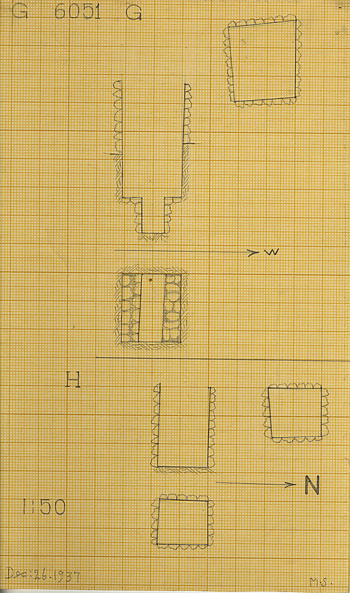 Maps and plans: G 6051, Shaft G and H