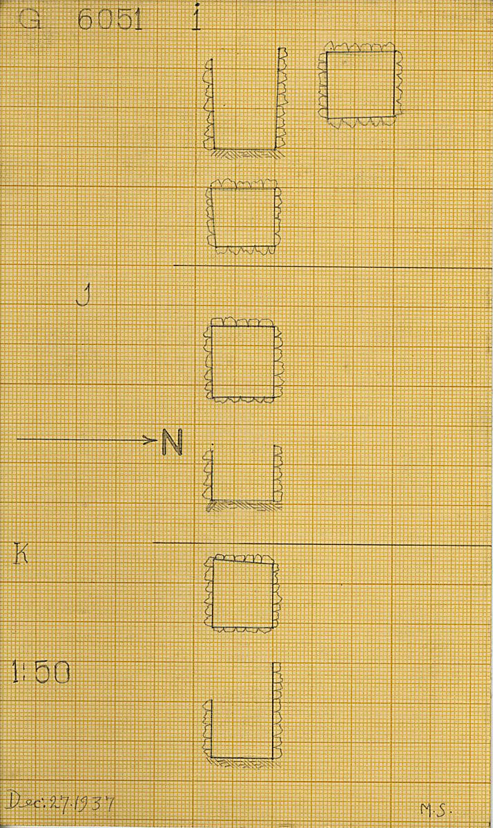 Maps and plans: G 6051, Shaft I, J, K