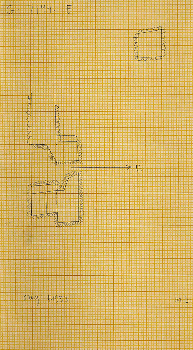 Maps and plans: G 7144, Shaft E
