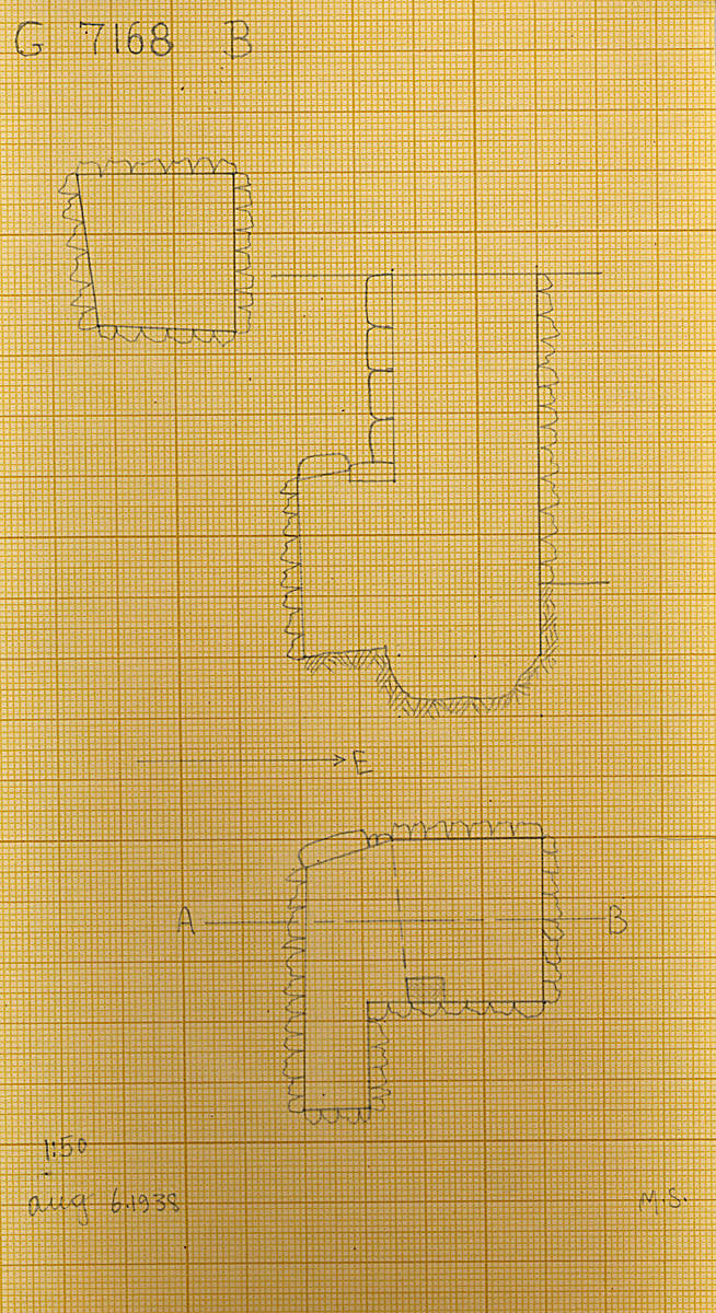 Maps and plans: G 7168, Shaft B