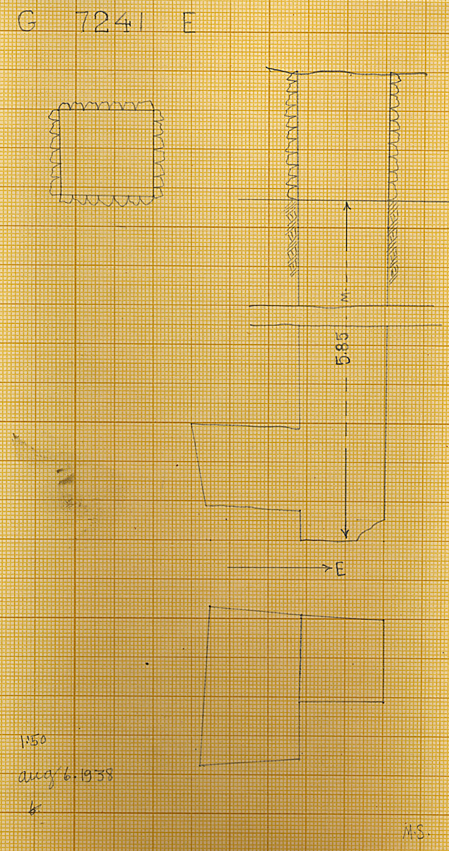 Maps and plans: G 7241, Shaft E