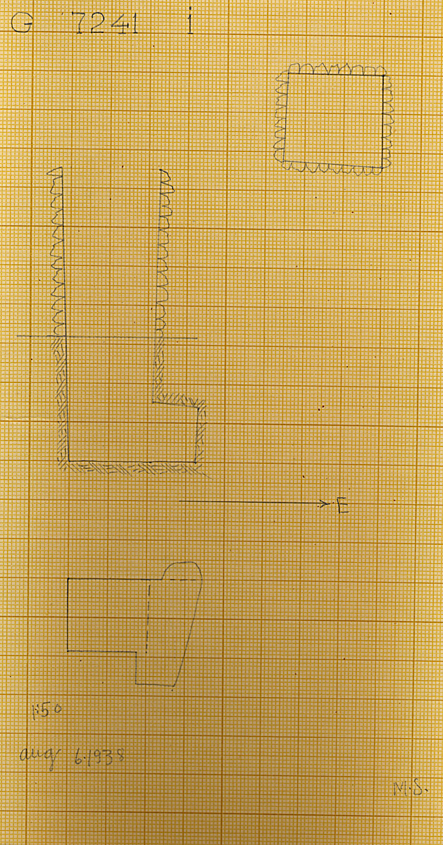 Maps and plans: G 7241, Shaft I