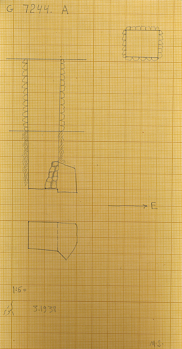 Maps and plans: G 7244+7246: G 7244, Shaft A