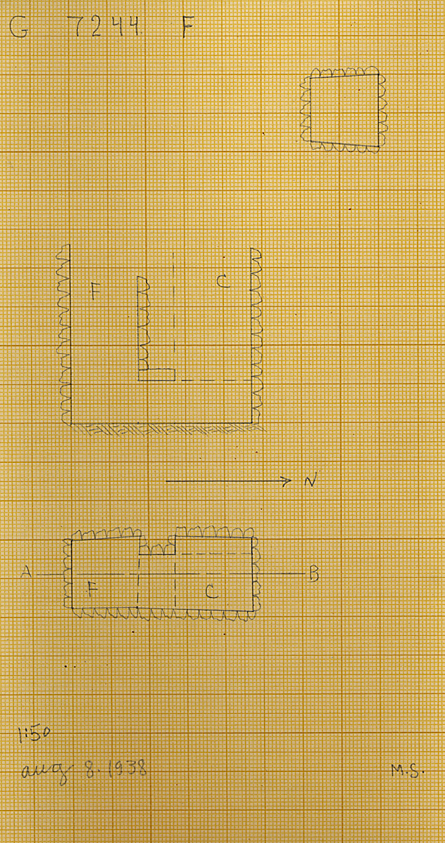 Maps and plans: G 7244+7246: G 7244, Shaft F