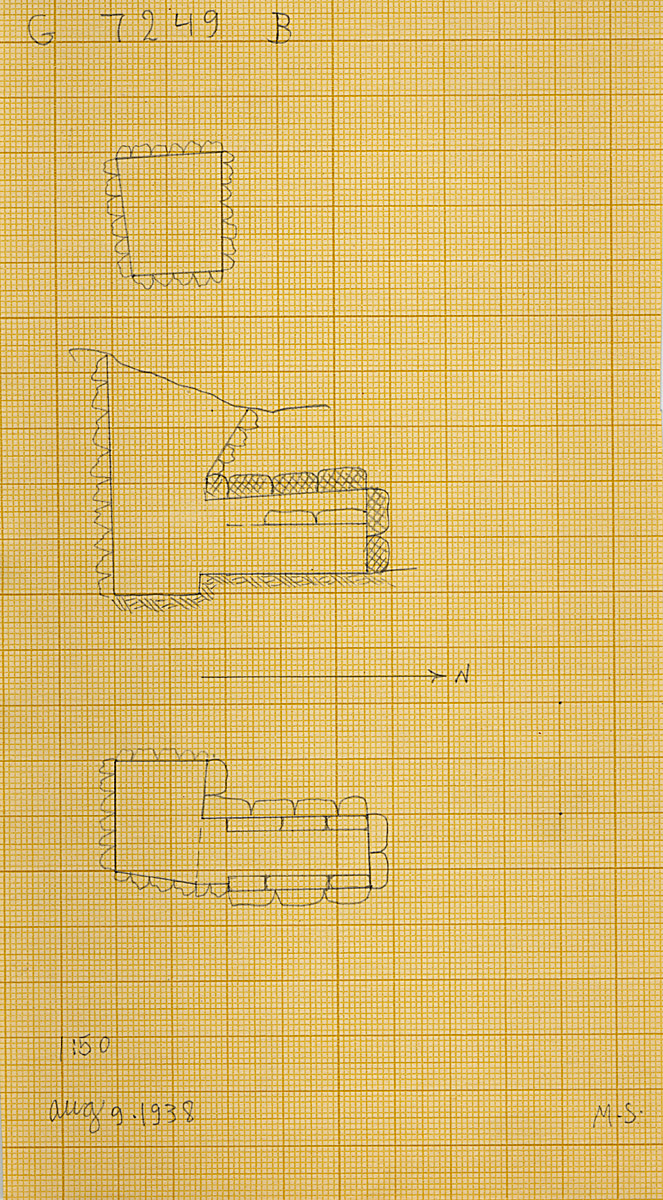 Maps and plans: G 7249, Shaft B