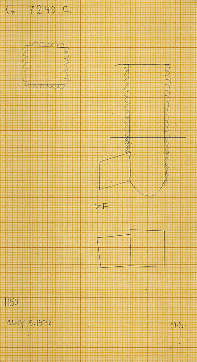 Maps and plans: G 7249, Shaft C