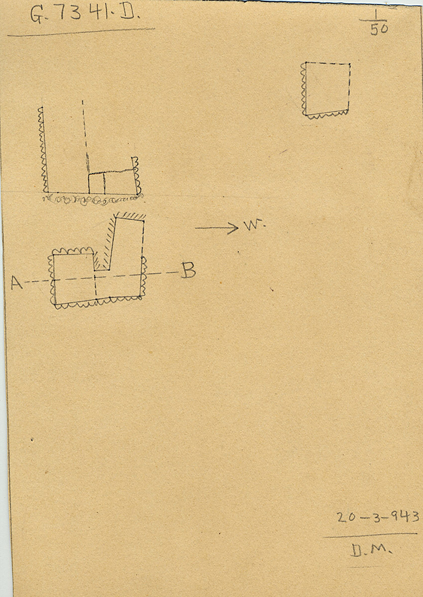 Maps and plans: G 7341, Shaft D