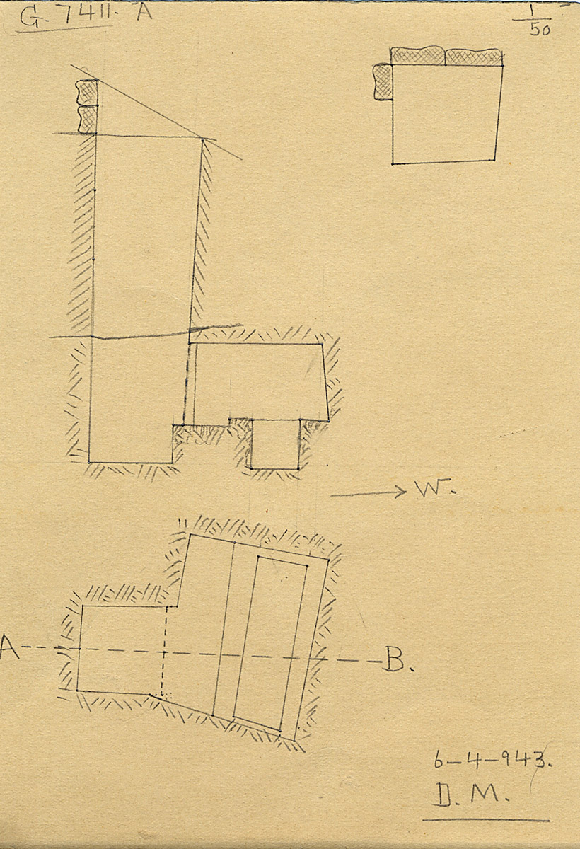 Maps and plans: G 7411, Shaft A