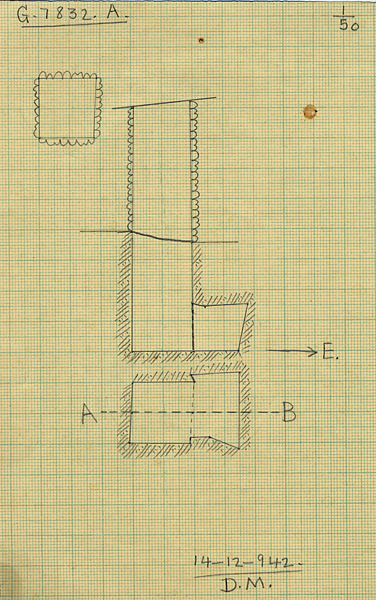 Maps and plans: G 7832, Shaft A