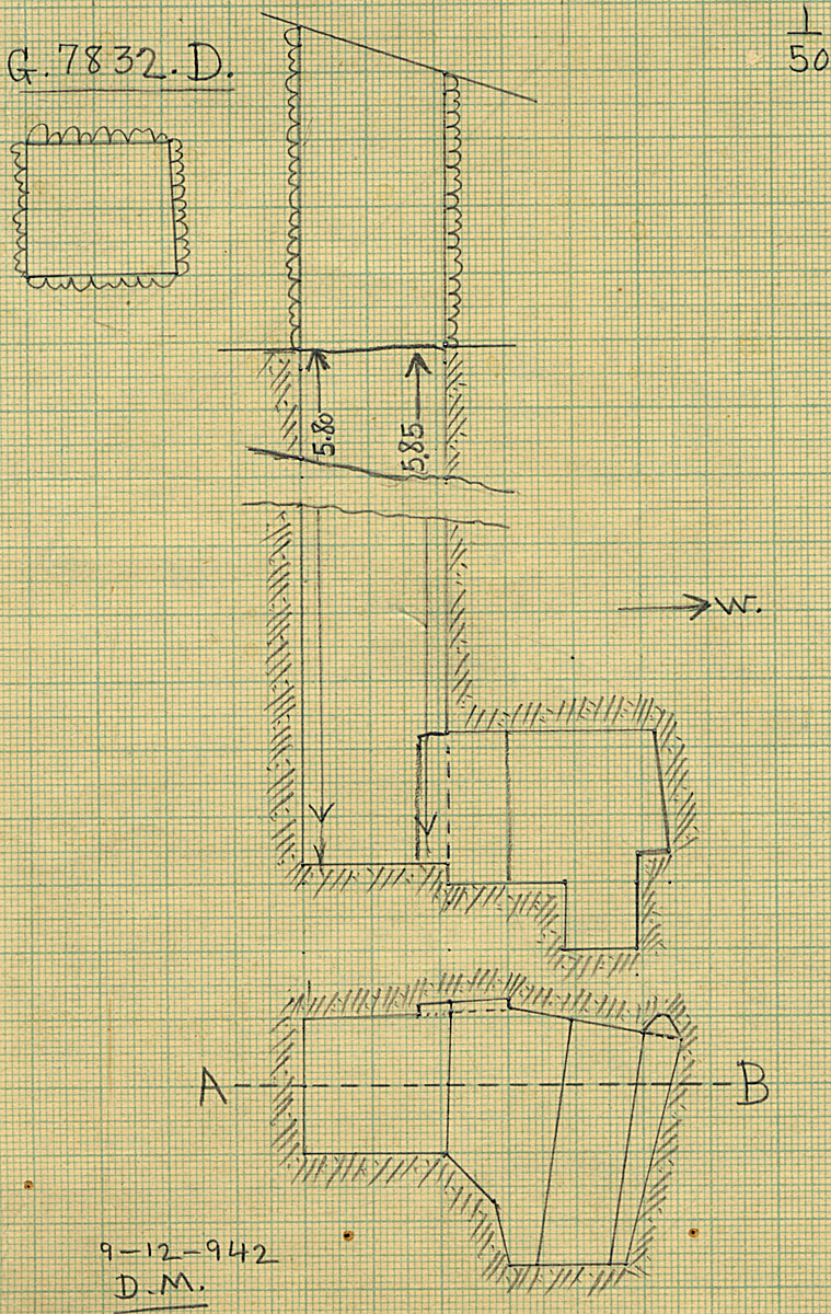 Maps and plans: G 7832, Shaft D