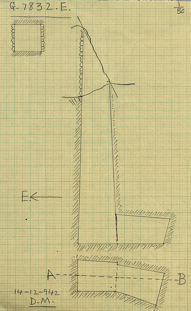Maps and plans: G 7832, Shaft E