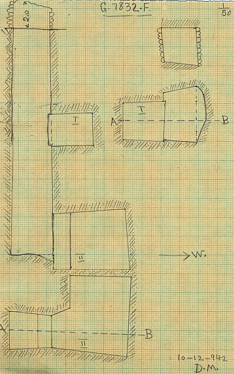 Maps and plans: G 7832, Shaft F