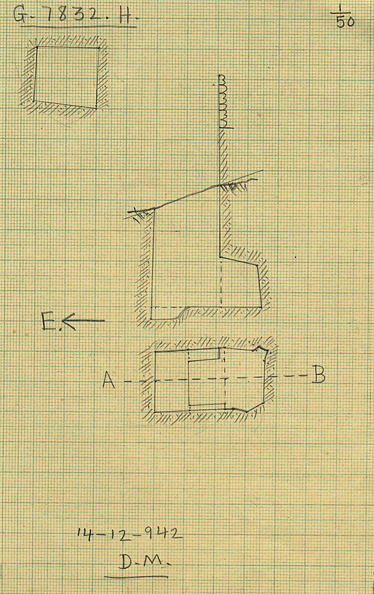 Maps and plans: G 7832, Shaft H