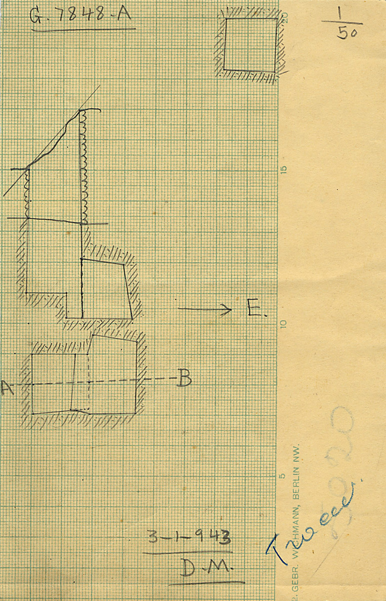 Maps and plans: G 7848, Shaft A