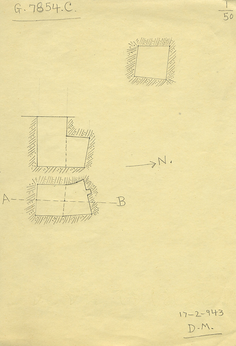 Maps and plans: G 7854, Shaft C