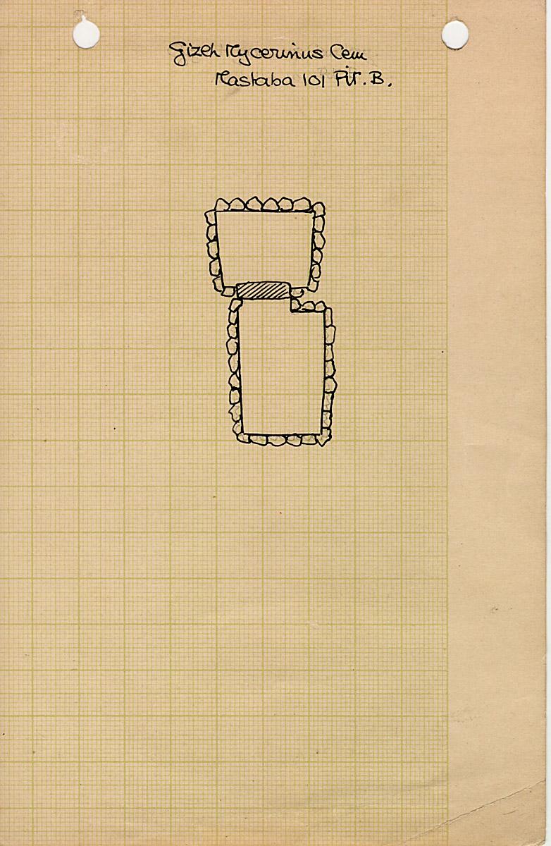 Maps and plans: MQ 101, Shaft B