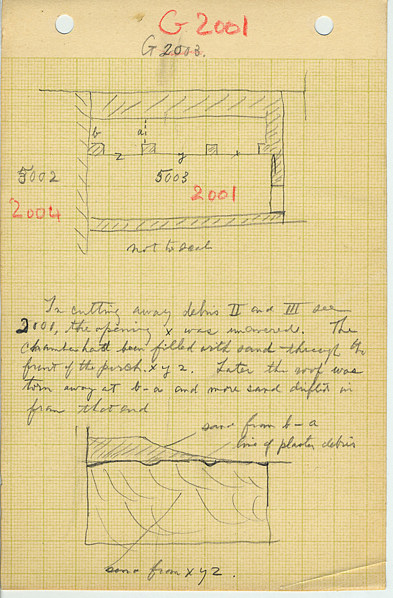Maps and plans: G 2001, Plan of chapel, notes