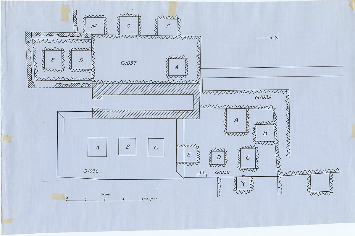 Maps and plans: Plan of G 1036, G 1037, G 1037-Addition, G 1037-Annex, G 1038, G 1039 (partial)