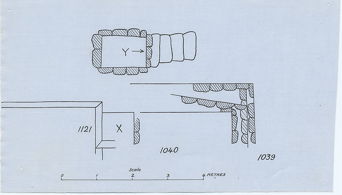 Maps and plans: Partial plan of G 1040+1041, with position of G 1039 and G 1121