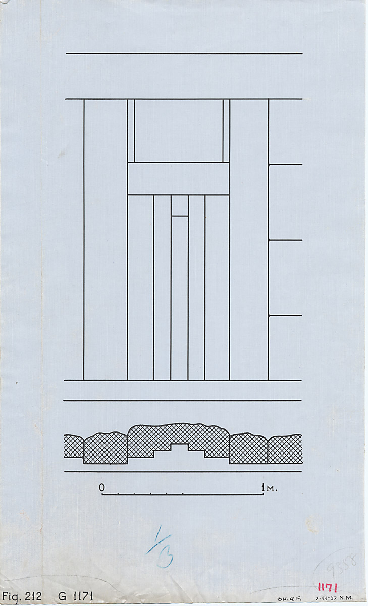 Maps and plans: G 1171, Plan and elevation of false door