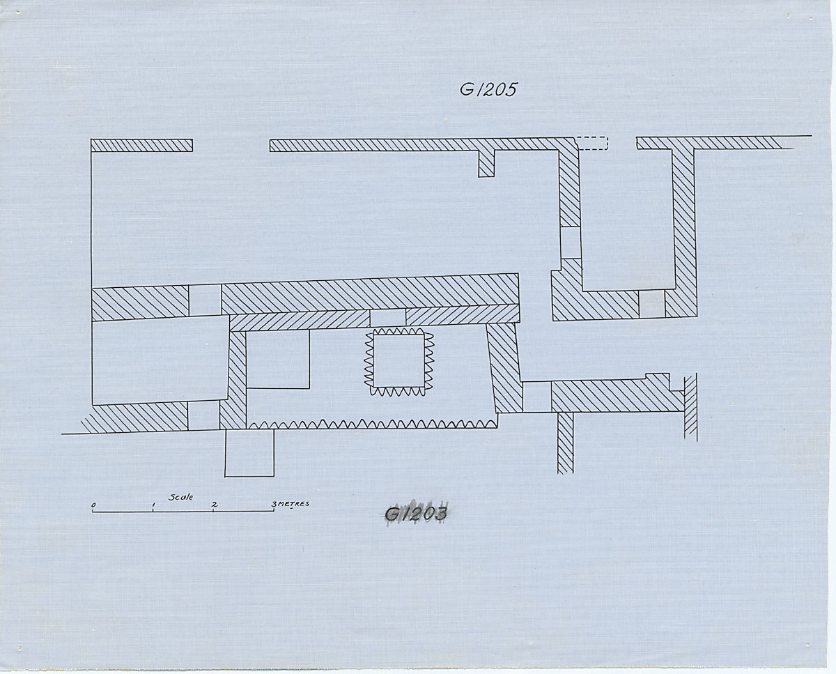 Maps and plans: G 1205, Plan of chapel area