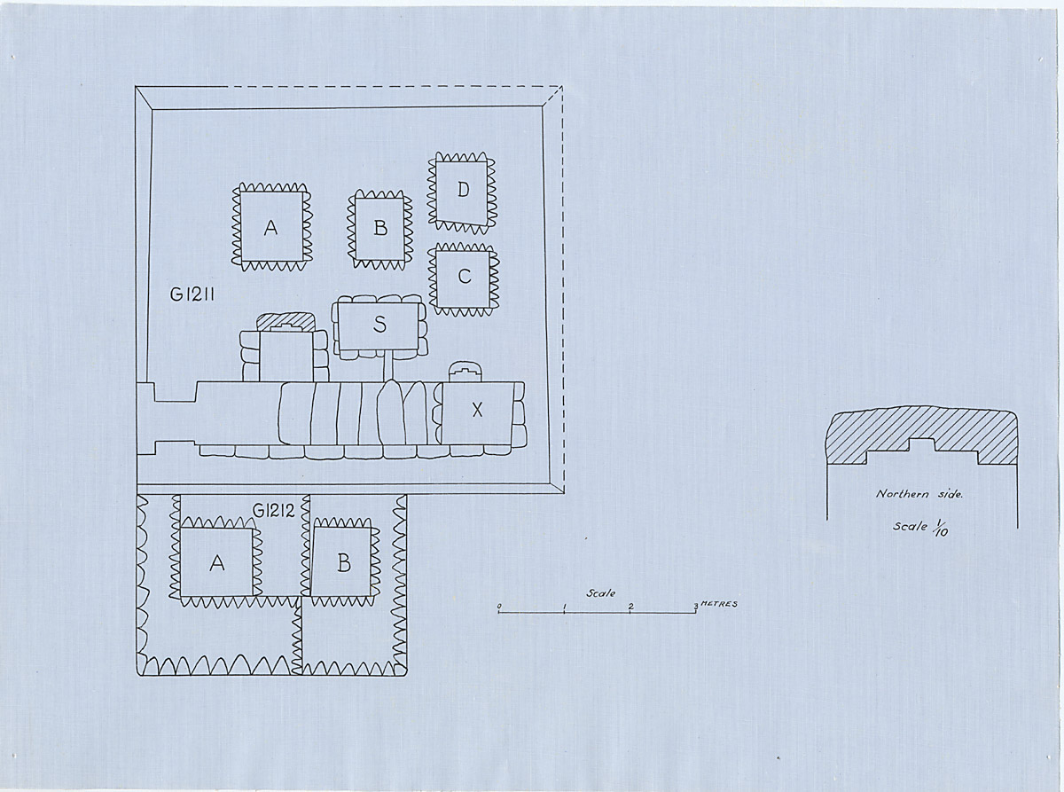 Maps and plans: Plan of G 1211 and G 1212