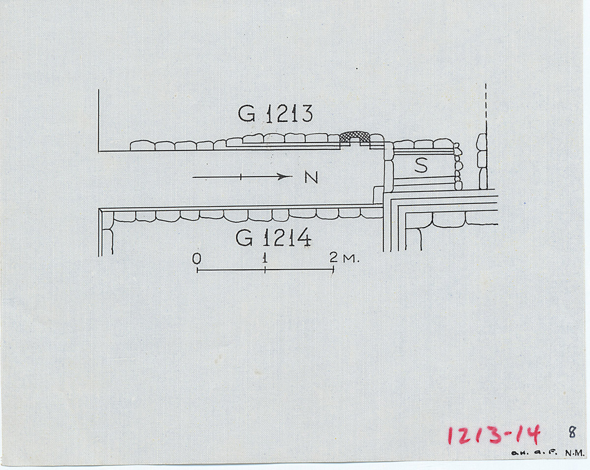 Maps and plans: Plan of corridor chapel between G 1213 and G 1214