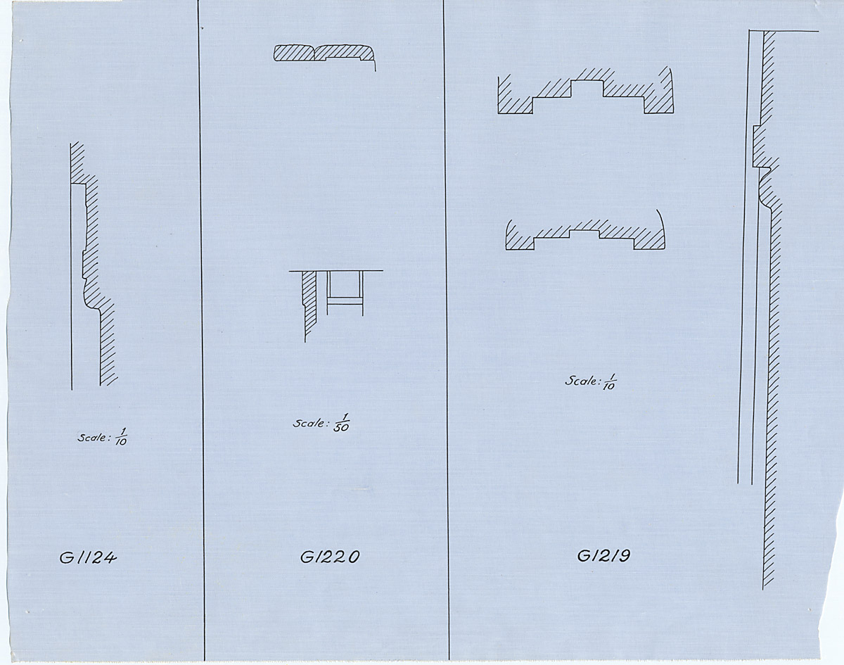 Maps and plans: Plan and section of niches of G 1219, G 1220, G 1226