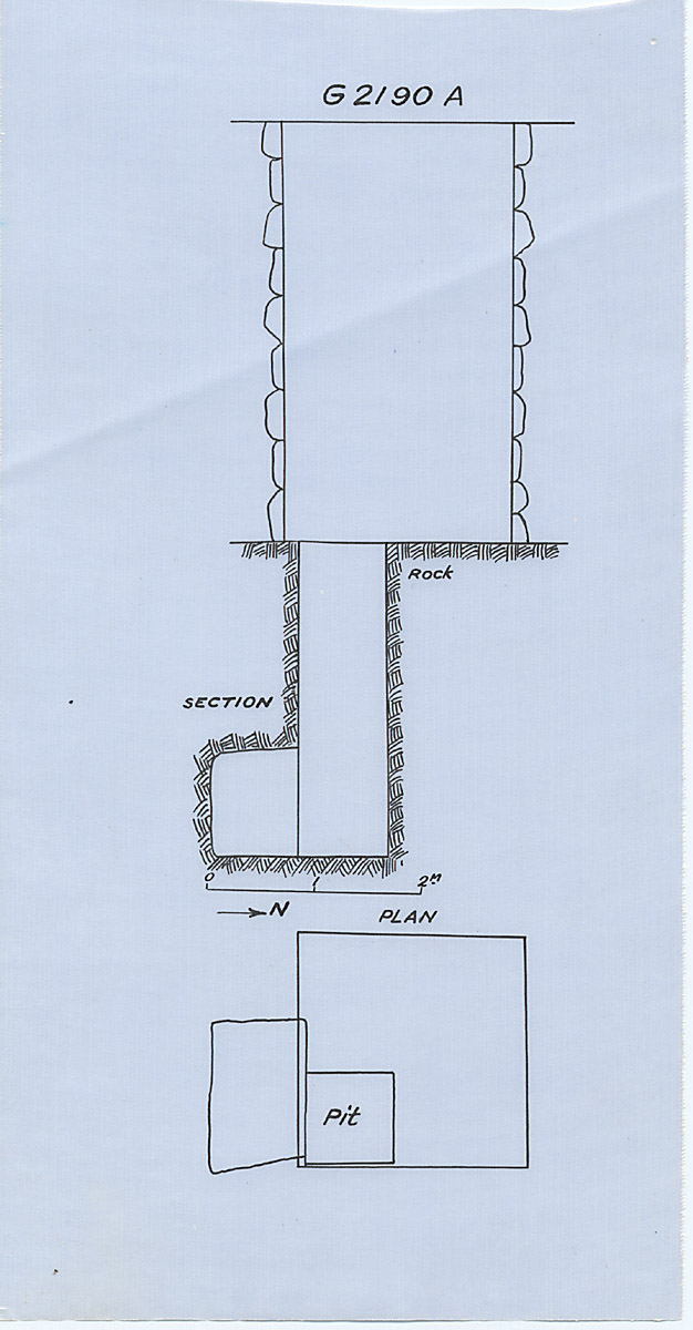 Maps and plans: G 2190 = G 5090, Shaft A