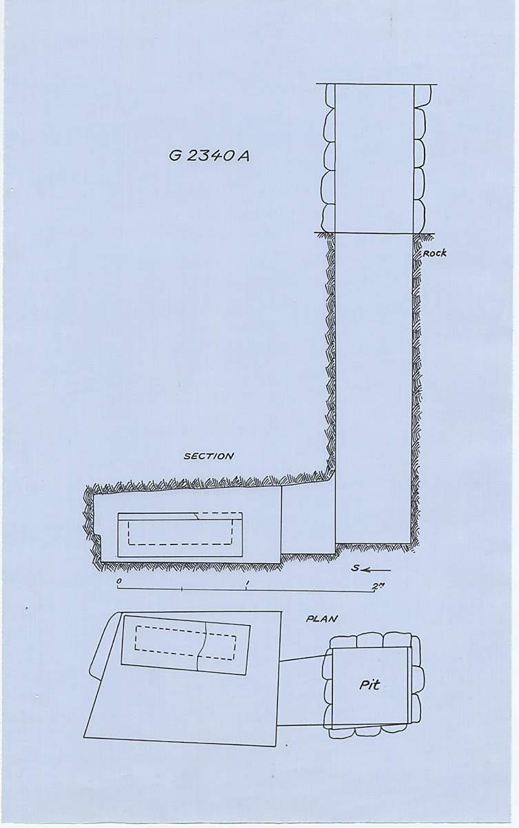 Maps and plans: G 2340 = G 5480, Shaft A