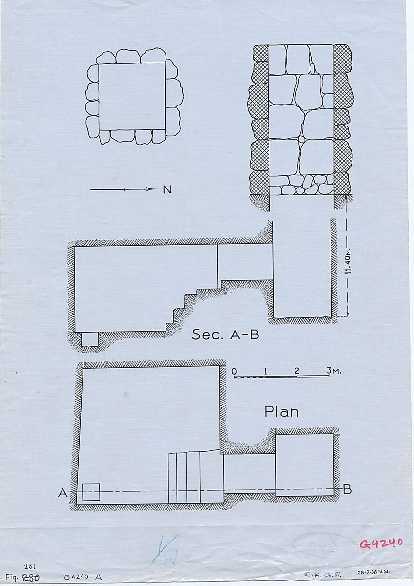 Maps and plans: G 4240, Shaft A