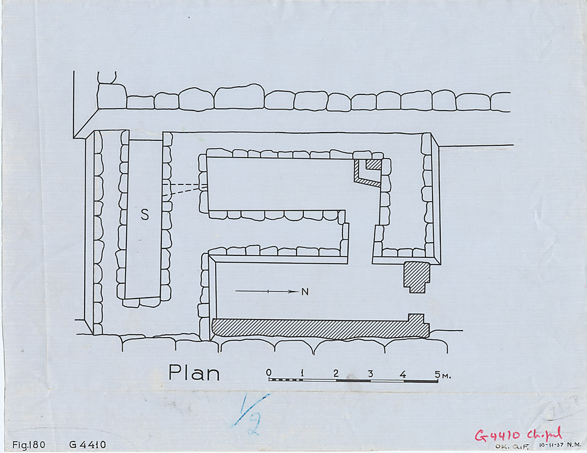 Maps and plans: G 4410, Plan of chapel