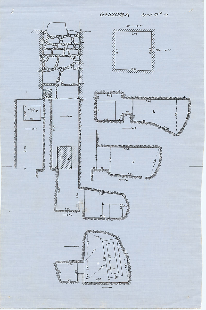 Maps and plans: G 4520, Shaft A