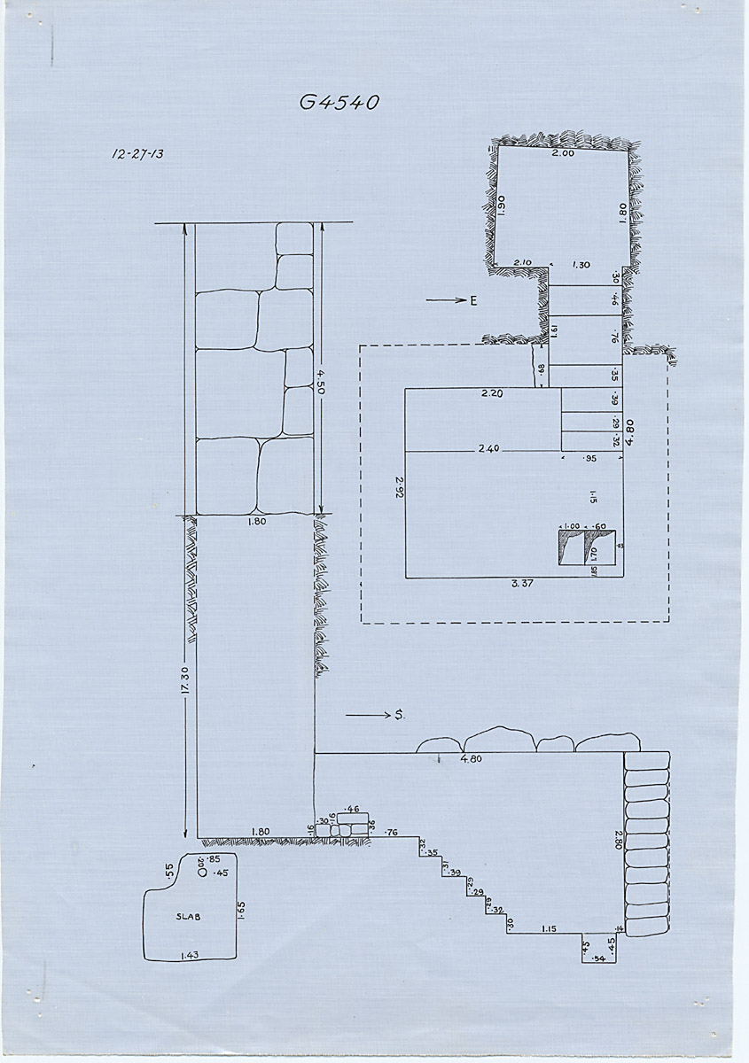 Maps and plans: G 4540, Shaft A