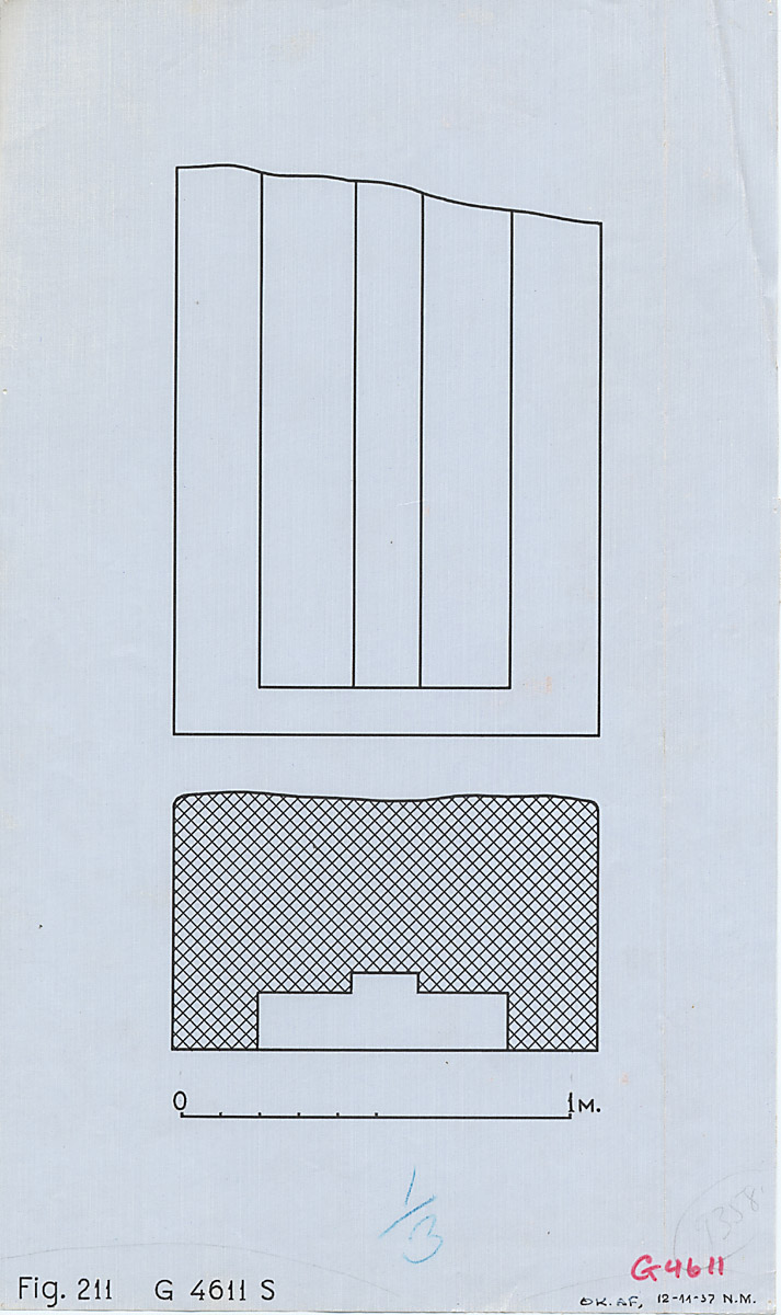 Maps and plans: G 4611, Plan and elevation of south false door