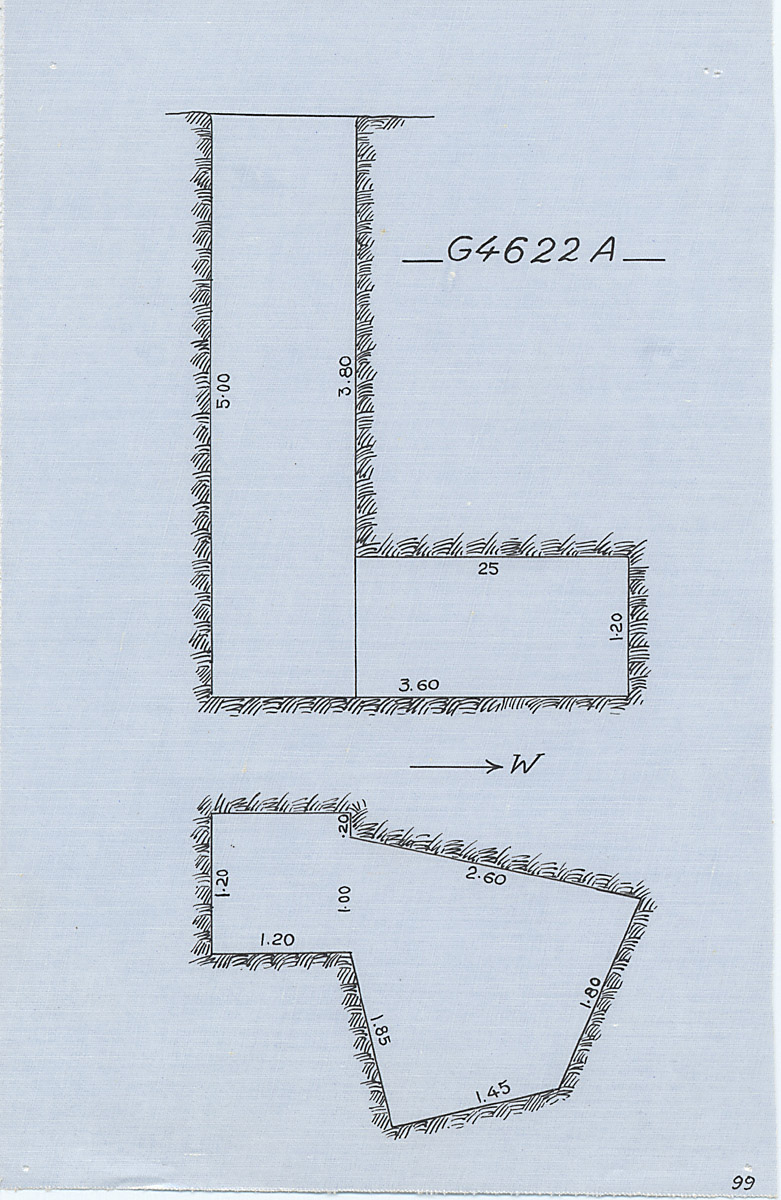 Maps and plans: G 4622, Shaft A
